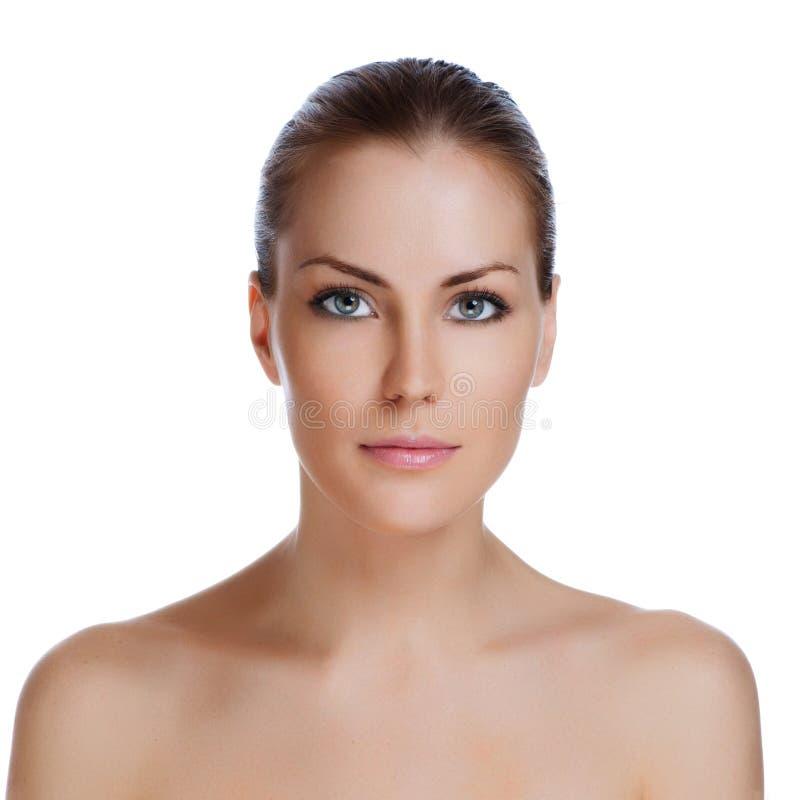 Download Junge Schöne Frau Mit Gesunder Haut Stockbild - Bild von nanometer, schön: 26354997