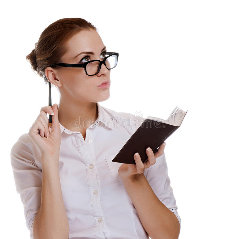 Download Junge schöne Geschäftsfrau stockfoto. Bild von leitprogramm - 26362326