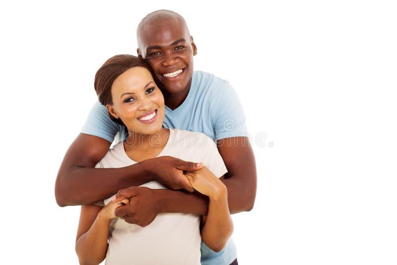Junge schwarze Paare lizenzfreies stockbild