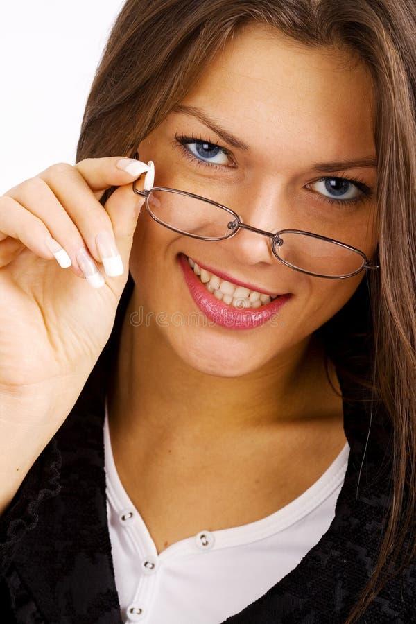Junge smilling Geschäftsfrau stockfoto