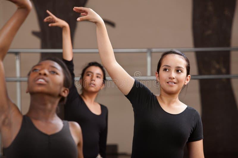 Junge Tänzer Practing stockfoto