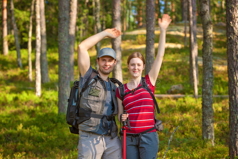 Junge Touristenpaare lizenzfreie stockfotografie