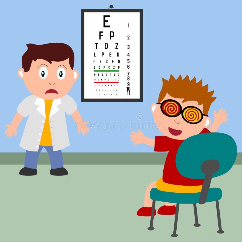 Junge und Optiker stock abbildung