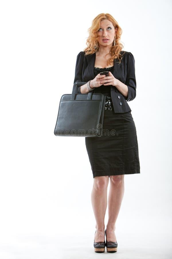 Junge und schöne blonde kaukasische Geschäftsfrau lizenzfreies stockfoto