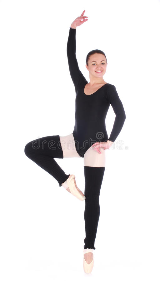 Junge wunderbare Ballerinaaufstellung lizenzfreies stockbild