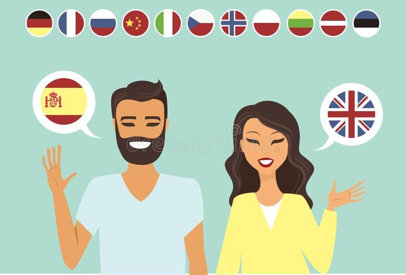 Junge zweisprachige Paare lizenzfreie abbildung