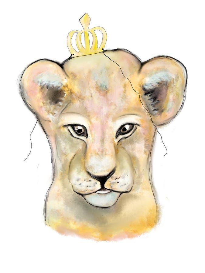 jungel的狮子国王 皇族释放例证