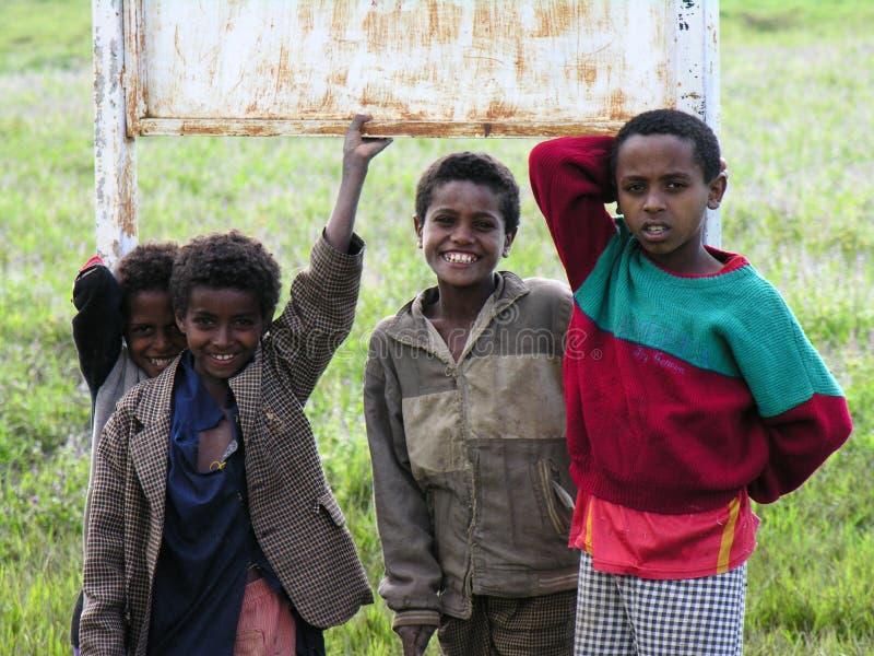 Jungen, Amhara, Äthiopien lizenzfreies stockbild