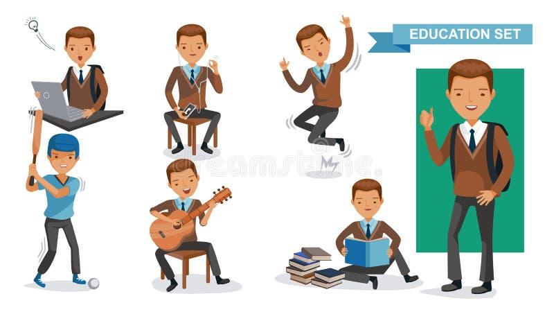 Jungen-Highschool lizenzfreie abbildung