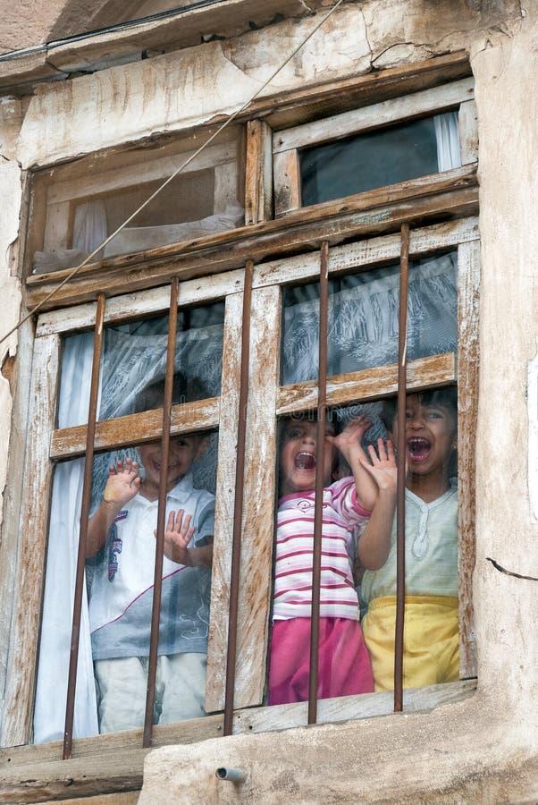 Jungen im Jemen stockfotografie
