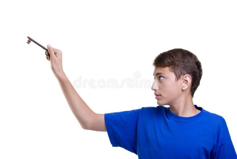 Jungen-Kursteilnehmer lizenzfreies stockbild