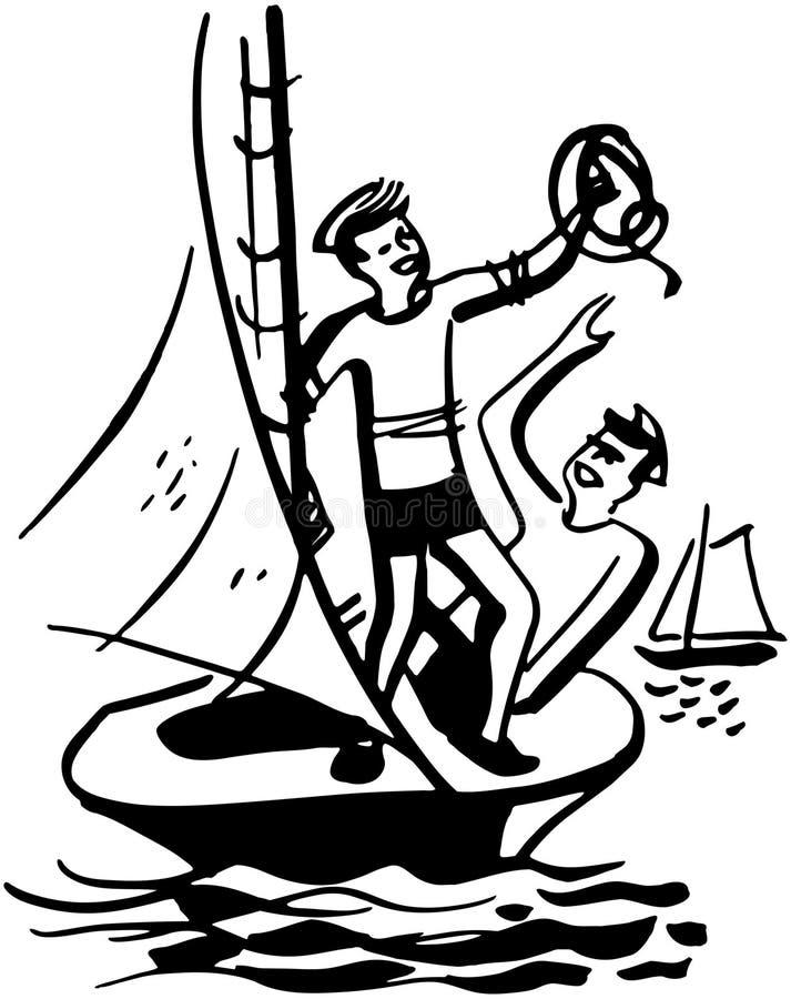 Jungen-Segeln stock abbildung