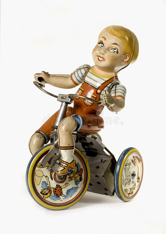 Jungen-Spielzeug-Weiß-Hintergrund lizenzfreies stockfoto
