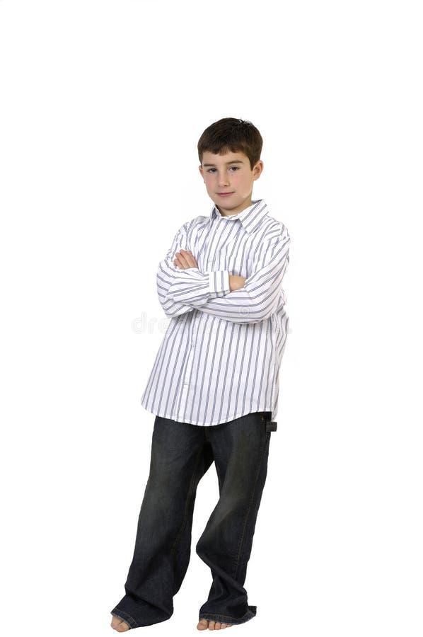 Jungen-Stellung lizenzfreie stockbilder