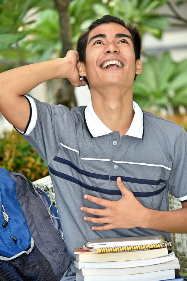 Jungen-Student And Laughter lizenzfreies stockfoto