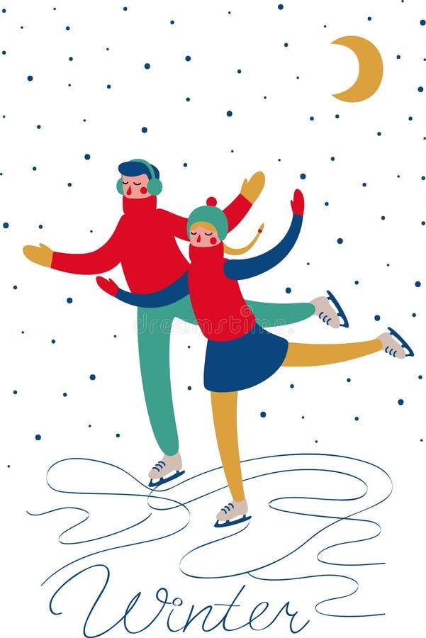 Download Jungen- und Mädcheneislauf vektor abbildung. Illustration von pompom - 47100589