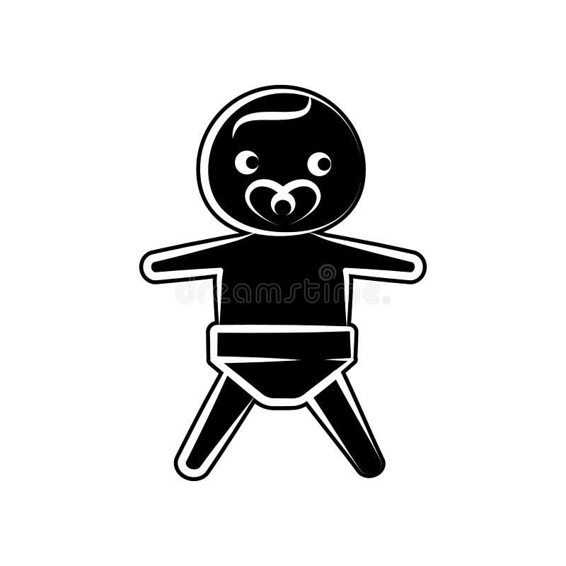 Jungenbaby-Kinderikone Element der Mutterschaft für bewegliches Konzept und Netz Appsikone Glyph, flache Ikone für Websiteentwurf vektor abbildung
