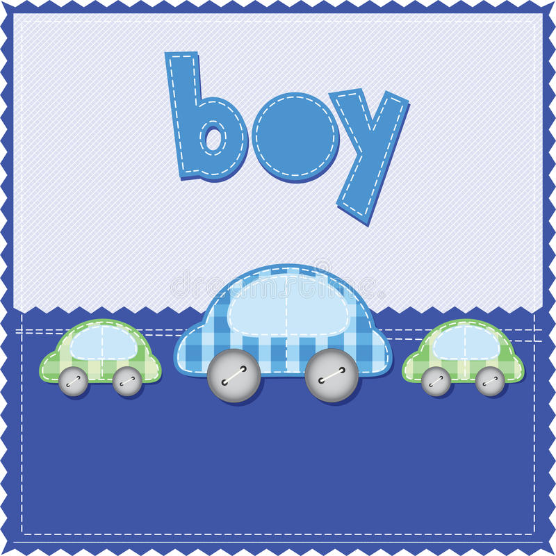 Jungengeburtstagkarte stock abbildung