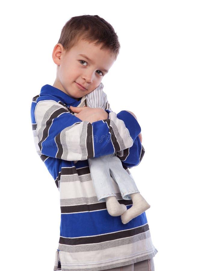 Jungenliebkosungspielzeug, Lokalisierung lizenzfreies stockbild