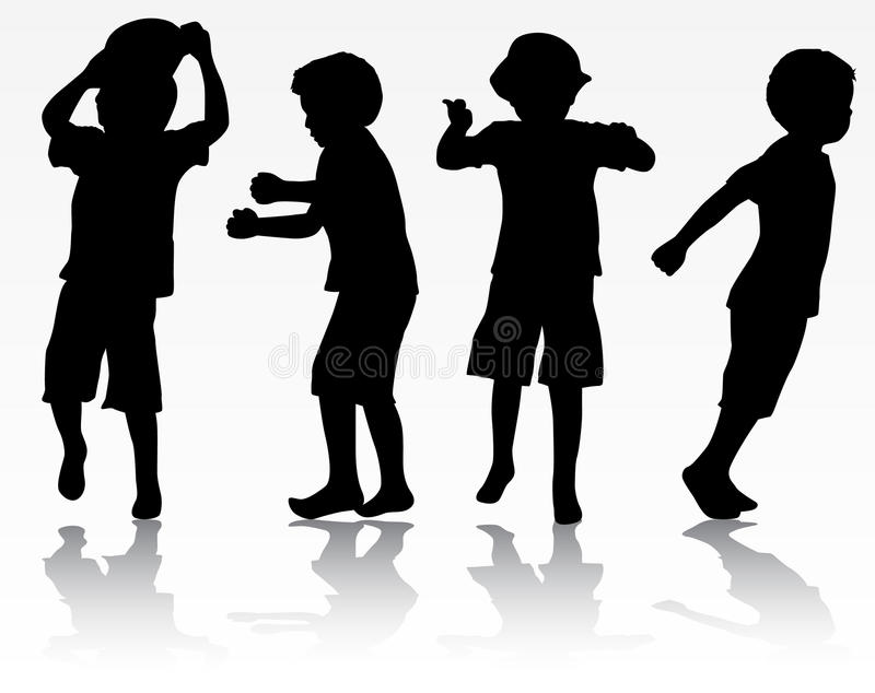 Jungenschattenbilder vektor abbildung