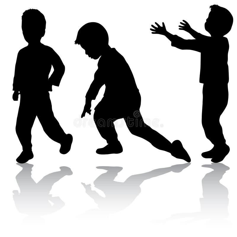 Jungenschattenbilder lizenzfreie abbildung
