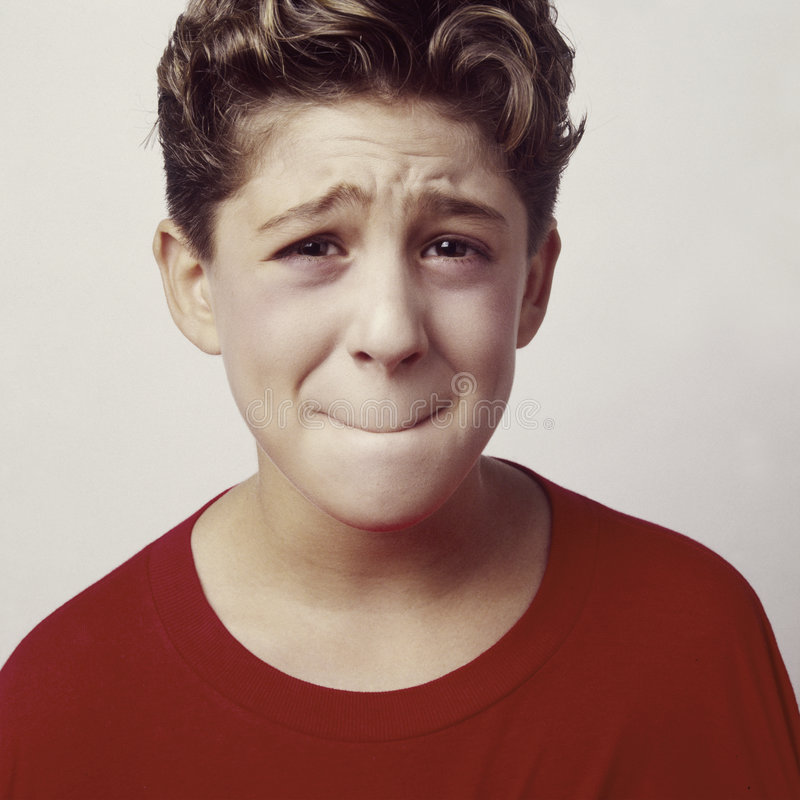 Jungenumkippen oder sick_2 stockfoto