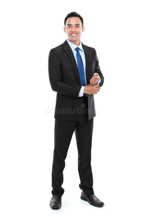 Junger asiatischer Geschäftsmann stockbild