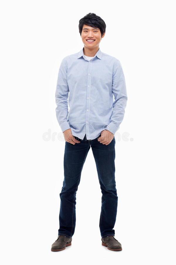 Junger asiatischer Mann lizenzfreies stockfoto