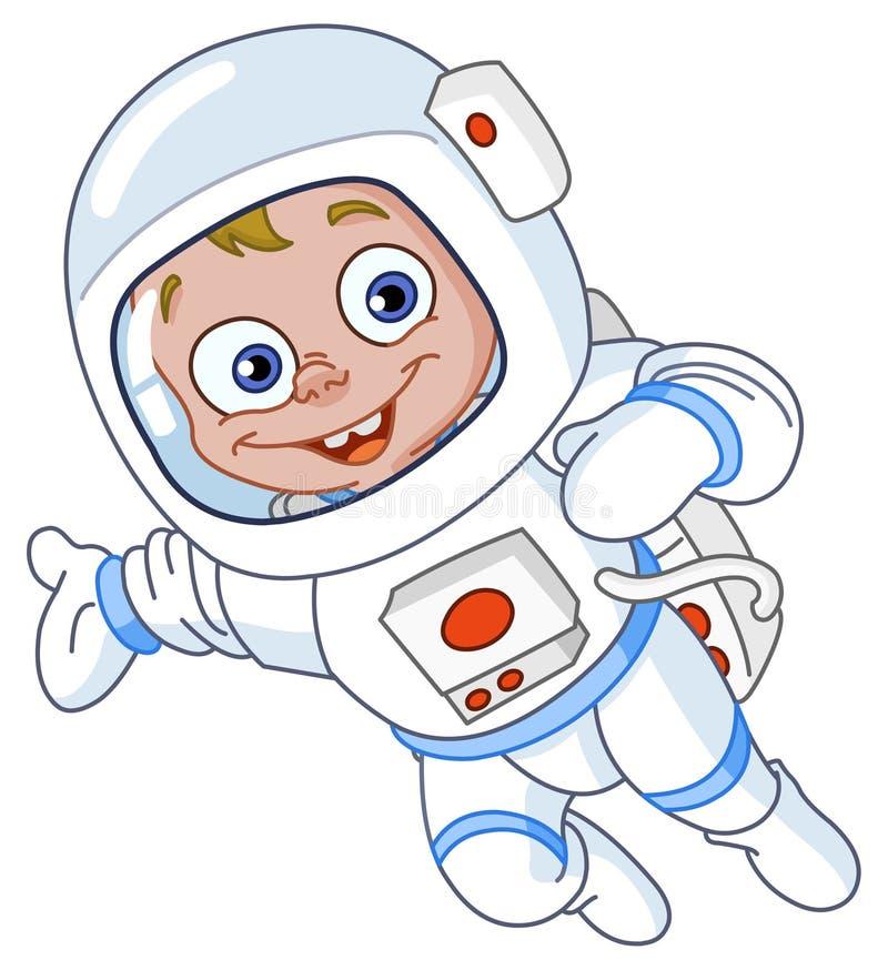 Junger Astronaut vektor abbildung