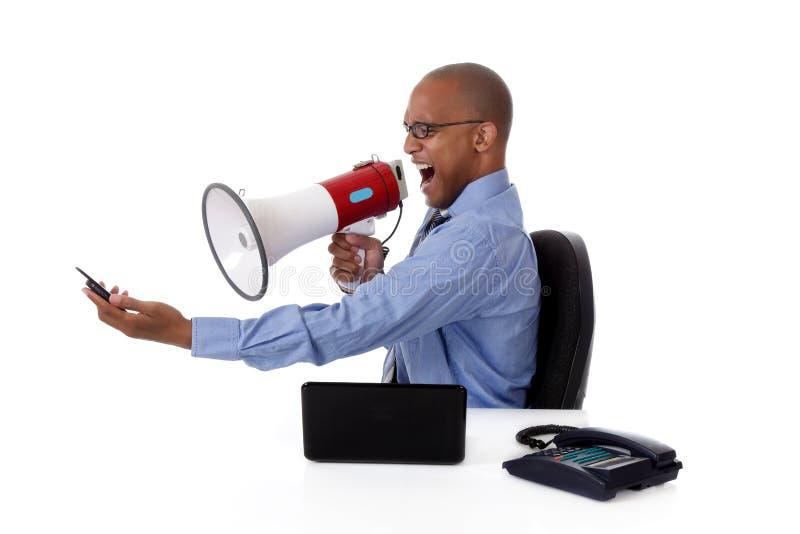 Junger attraktiver Afroamerikanergeschäftsmann lizenzfreies stockfoto