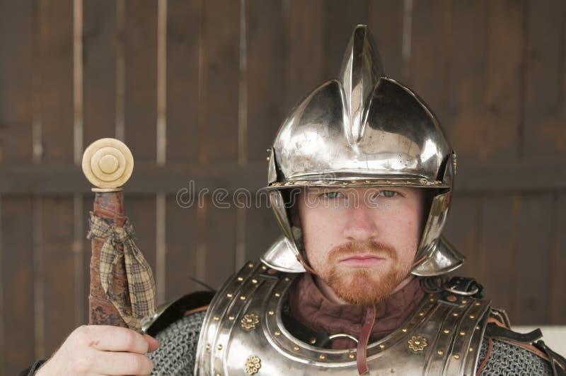 Junger bärtiger Ritter stockbilder