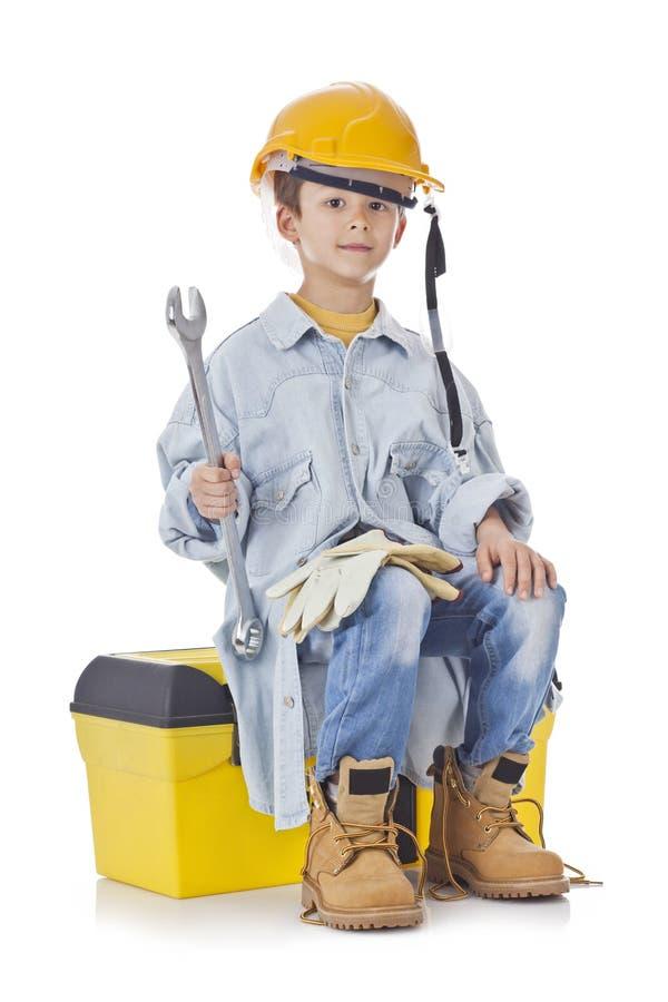 Junger Bau-Mann stockfoto