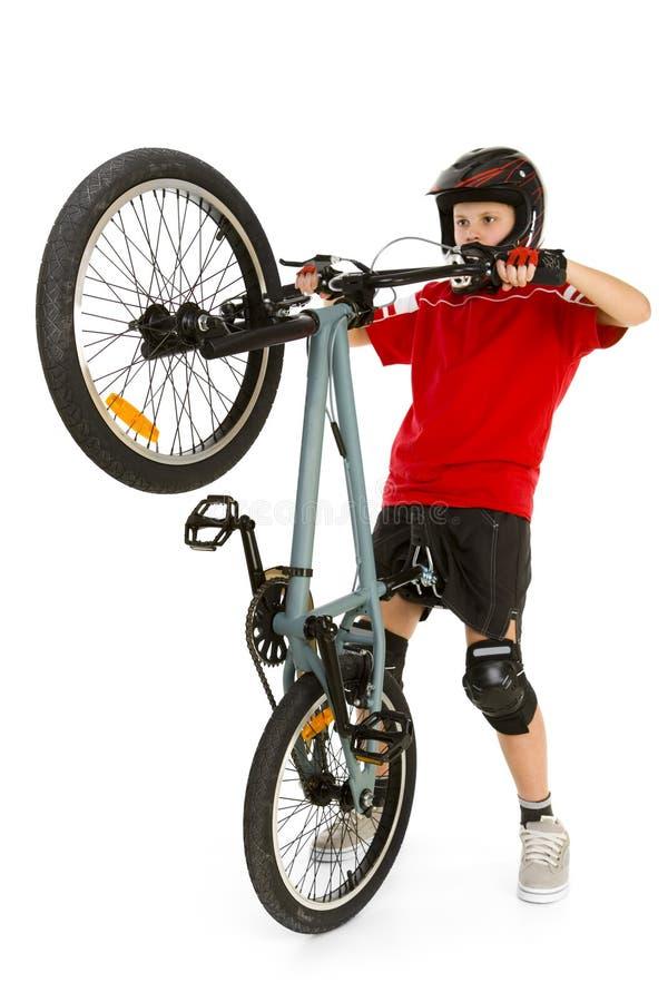 Junger BMX Mitfahrer stockbilder