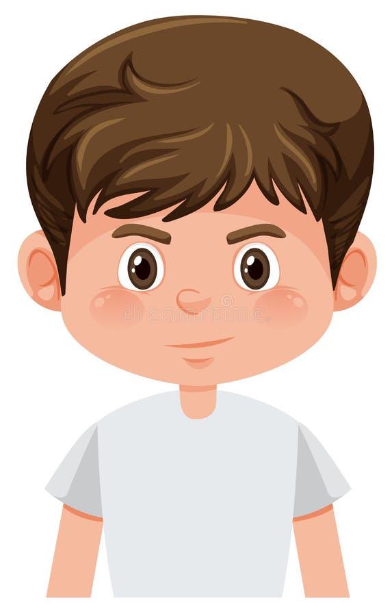 Junger brunette Junge lokalisiert vektor abbildung