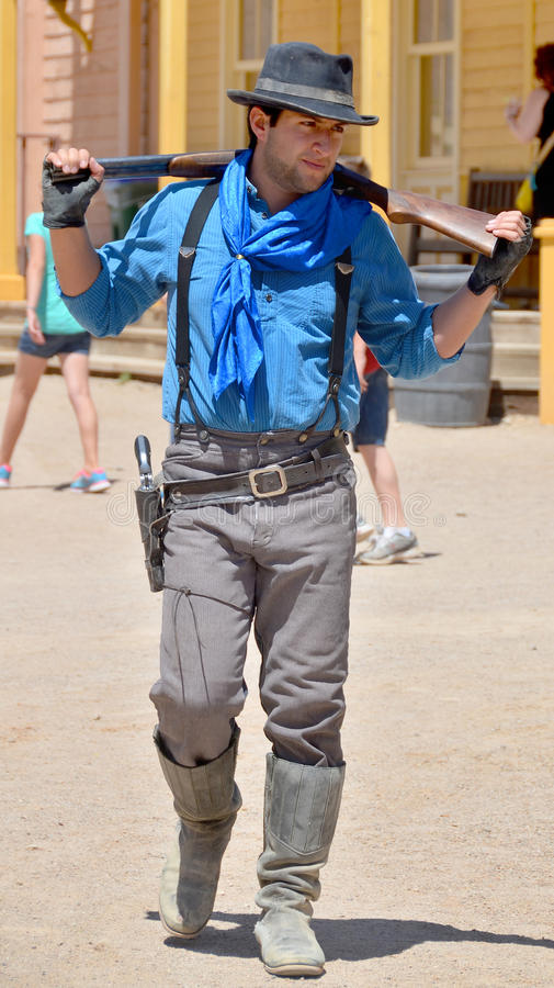 Junger Cowboy lizenzfreie stockbilder