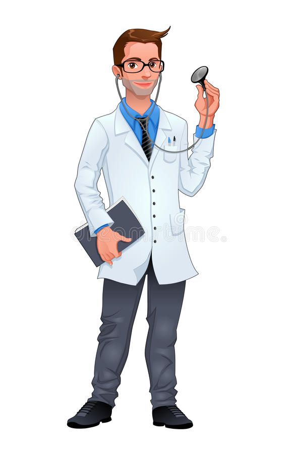 Junger Doktor vektor abbildung