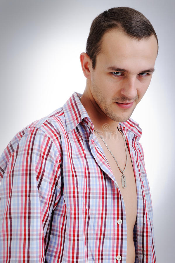 Junger eleganter attraktiver Mann lizenzfreies stockbild