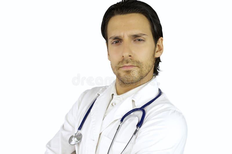 Junger ernster Doktor stockfoto