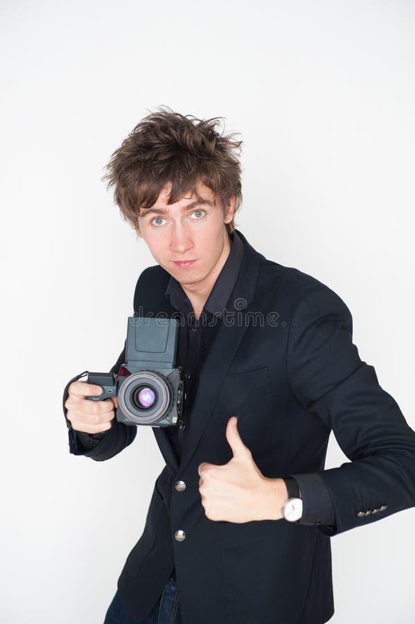 Junger Fotograf stockfoto
