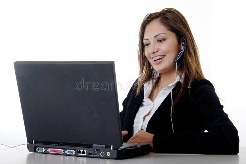 Junger freundlicher Sekretär lizenzfreie stockbilder