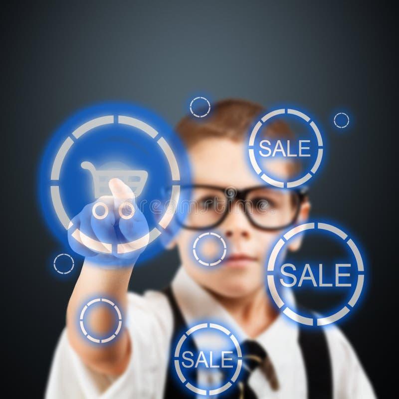 Junger Geschäftsjunge lizenzfreie abbildung