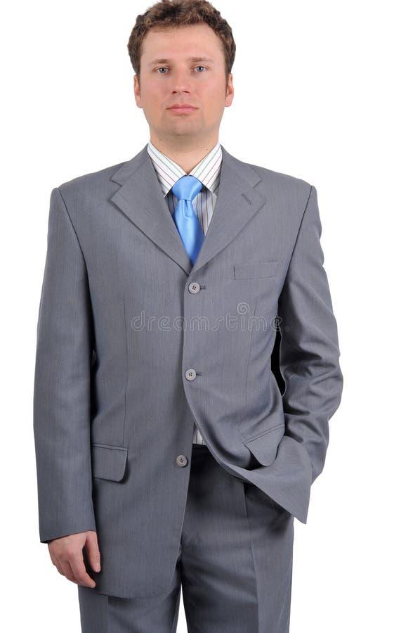 Junger Geschäftsmann, der an Krise denkt lizenzfreies stockbild