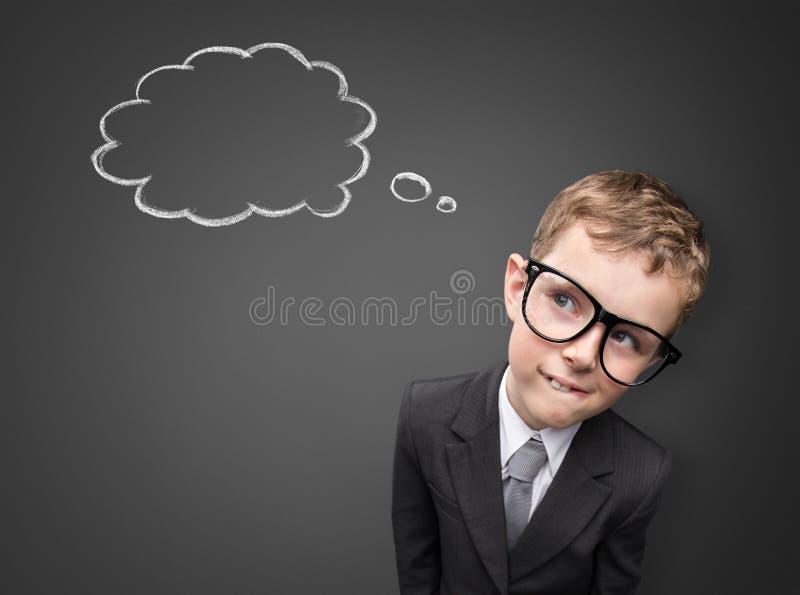 Junger Geschäftsmann hat eine Idee lizenzfreies stockbild