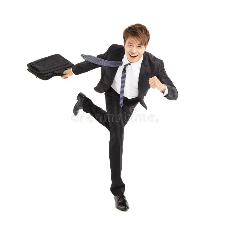 Junger Geschäftsmannbetrieb lizenzfreies stockbild
