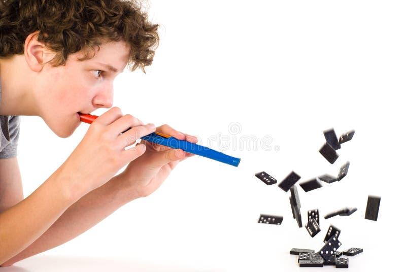 Junger Illusionist stockfotos