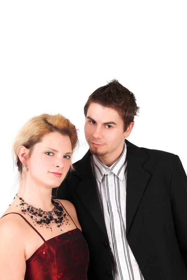 Junger Junge und Mädchen zusammen lizenzfreies stockbild