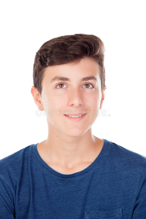 Junger kaukasischer Junge Browns stockfotos