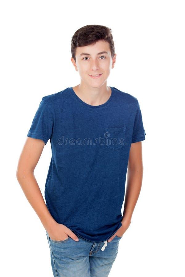 Junger kaukasischer Junge Browns stockfoto