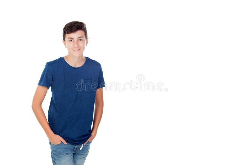 Junger kaukasischer Junge Browns lizenzfreie stockbilder
