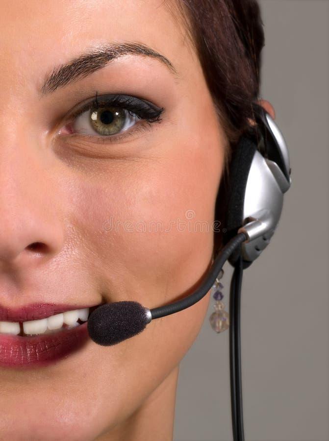 Junger Kundendienst lizenzfreies stockbild